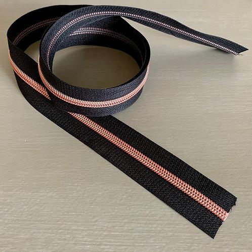 ZIP au mètre spirale 8 mm - Or rose