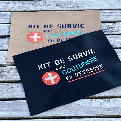 Coupon brodé ~ Kit Survie
