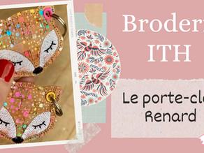 Broderie ITH : Le porte-clés Renard