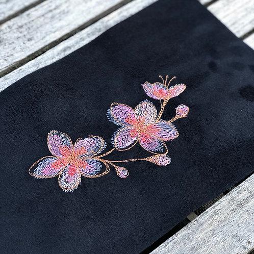 Coupon brodé ~ Fleurs de cerisier