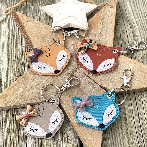 Porte-clés ~ Fox avec noeud