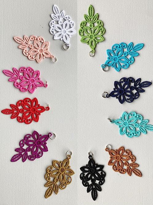 Breloque Fleurs esprit bohème ~ 12 coloris