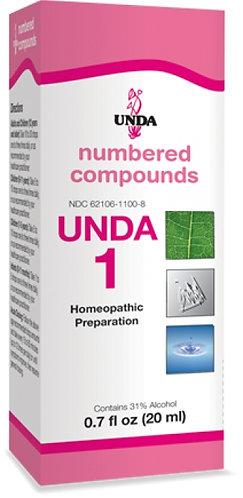 UNDA NUMBERED Biotherapeutic Drainage HOMEOPATHICS   20 ml