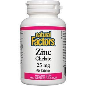 NFactors Zinc Chelate 25 mg 90 tablets