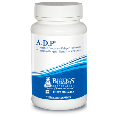 Biotics Research Oregano Oil Tablets - A.D.P. 120 tablets