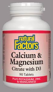 NFactors Calcium & Magnesium Citrate/ D3 Plus Potassium, Zinc & Manganese   90'S