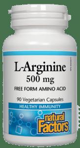 NFactors L-Arginine 500 mg 90's