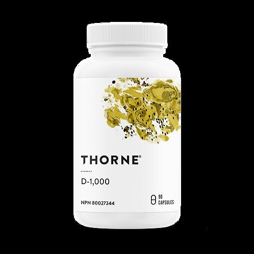 Thorne Research Vitamin D 1000 iu 90 caps
