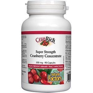 NFactors Organic CranRich® 500 mg · Super Strength Cranberry Concentrate