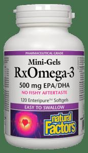NFactors RxOmega-3 Mini-Gels 500 mg  120 Capsules