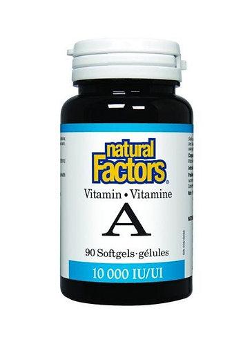 NFactors Vitamin A 10,000iu  90 capsules