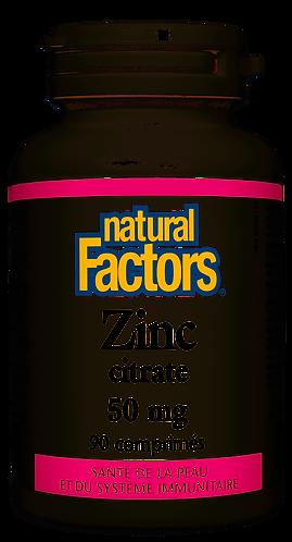 NFactors Zinc Citrate 50 mg 90 tablets