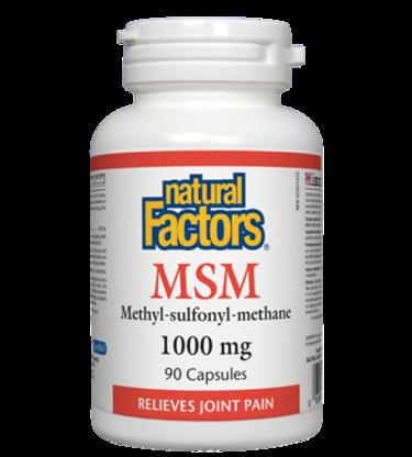 NFactors MSM 1000 mg · Methyl-sulfonyl-methane  90 capsules