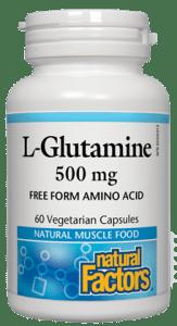 NFactors L-Glutamine 500 mg  60 caps
