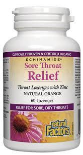 NFactors Sore Throat Relief Lozenges with Zinc  60's