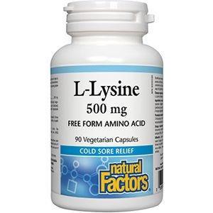 NFactors L-Lysine  500 mg  90 capsules