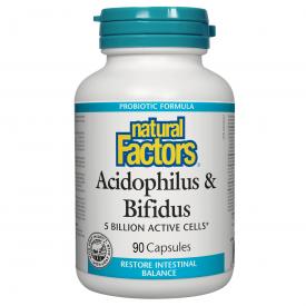 NFactors Acidophilus & Bifidus 5 Billion Active Cells 90'S