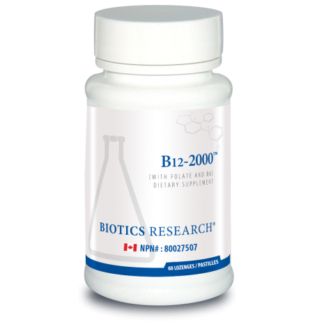 Biotics Research B12  2000 mcg plus Folate 800 mcg