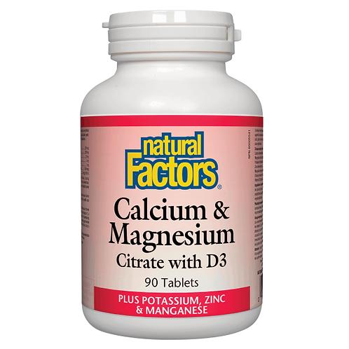 NFactors Calcium & Magnesium Citrate & D3 Plus Potassium, Zinc & Manganese 90's