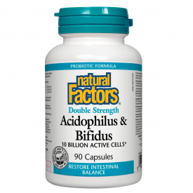 NFactors Acidophilus Bifidus 10 Billion Active Cells 90's