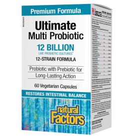 NFactors Ultimate Multi Probiotic 12 Billion Live Probiotic Cultures 60 caps