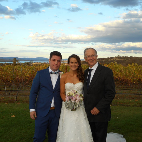 Adrian & Libby.  30/4/2016.  Frogmore Creek Wines.