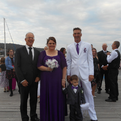 Sarah & Jarrod.  21/04/18.  Lindisfarne Yacht Club.