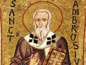 Bajo la autoridad de San Ambrosio, obispo de Milán
