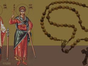 El Santo Rosario y los mártires Sarkis y Baco