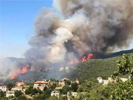 El patriarca maronita vista Akkar, región devastada por los incendios