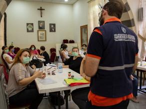 Con la ayuda de MECC, veinte mujeres están creando conciencia sobre la salud en Damasco