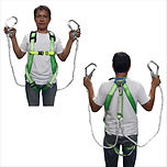FULL BODY HARNESS WITH DOUBLE HOOK AND SHOCK ABSORBER