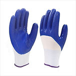 NITRILE COATED KNITTED GLOVES (BLUE)