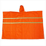 PONCHO WITH REFLFECTOR NEON ORANGE