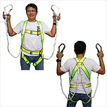 FULL BODY HARNESS WITH DOUBLE LANYARD