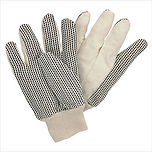 COTTON TWILL DOTTED GLOVES