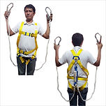 SAFETY USA FULL BODY HARNESS WITH DOUBLE HOOK WITH SHOCK ABSORBER