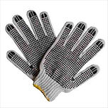 Cotton Dotted Knitted Gloves