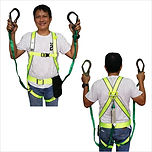 COV KOREA FULL BODY HARNESS WITH DOUBLE LANYARD AND SHOCK ABSORBER