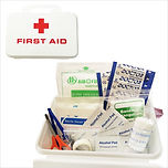 BOX - FIRST AID KIT WITH WHITE PLASTIC C