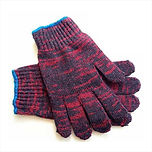 BOX - COTTON KNITTED GLOVES (RED GRAY).J