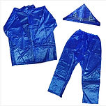 RAINCOAT JACKET & PANTS RUBBERIZED BLUE