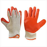 RUBBER COATED KNITTED GLOVES WITH ORANGE PALM