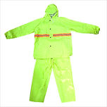 Raincoat w/ Reflector - Jacket & Pants (Neon Green)
