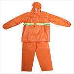 Raincoat w/ Reflector - Jacket & Pants (Neon Orange)