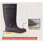 Supertuff Safety Boots w/ Steel Toe (Black with Yellow Sole)