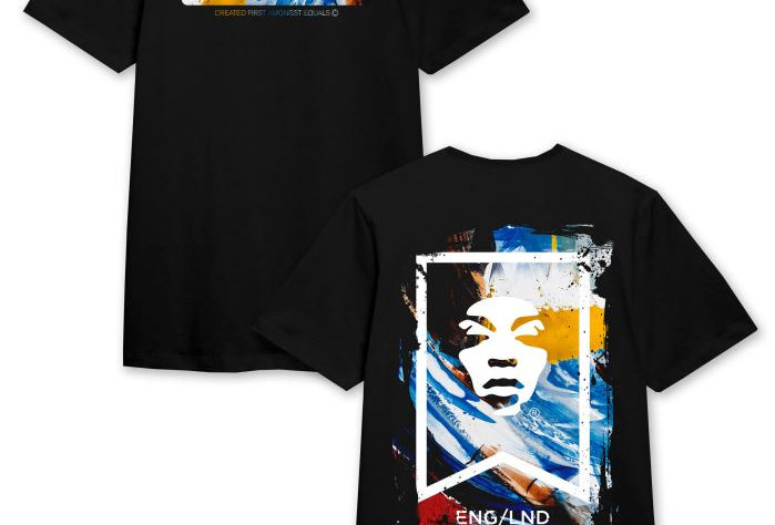 ABSTRACT PAINT FACE T-SHIRT