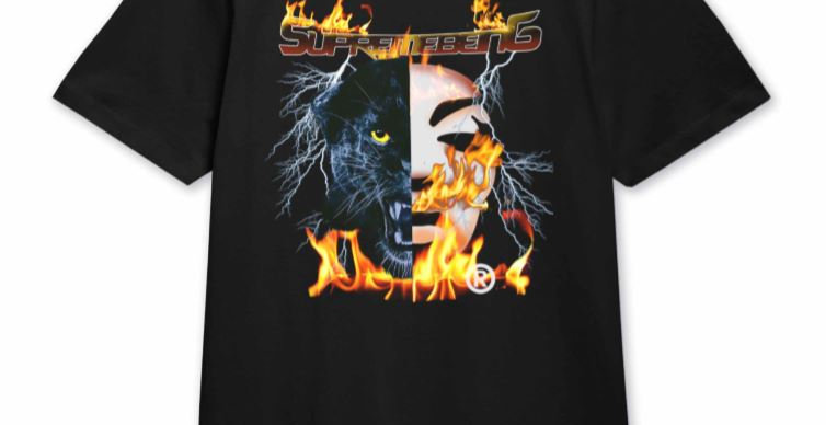 PANTHER FLAMES T-SHIRT