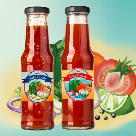 Etiketit salsakastikkeille
