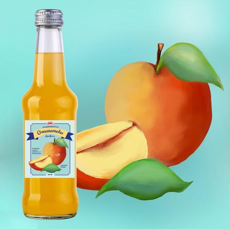 Etikettisuunnittelu omenamehulle